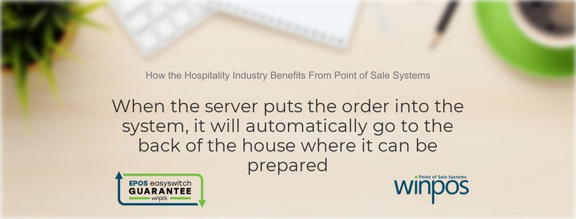 hospitality industry pos automatically sends order