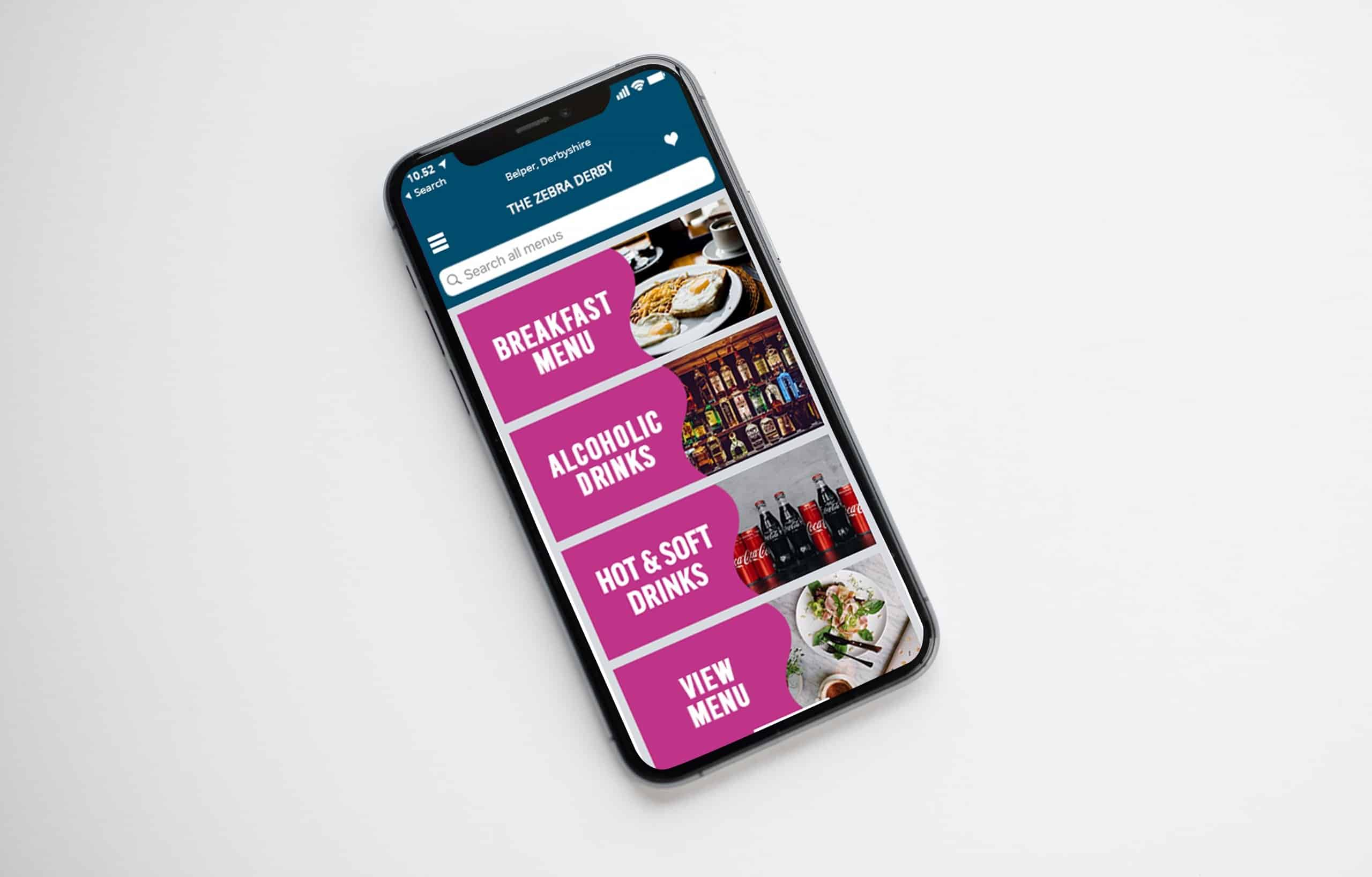 Consumer App Mock-up for hospitality industry