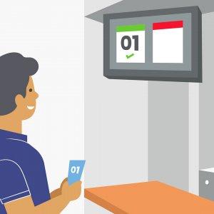 Order ready board in multi-site quick service restaurant